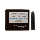 Royal blue Dupont fountain pen cartridges - 1