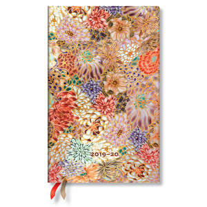 Maxi Paperblanks Michiko 2019-2020 18 Month Diary Kikka Vertical Week-to-View - 1