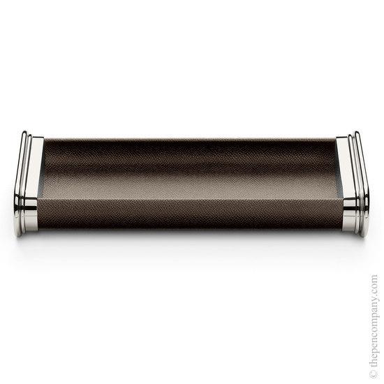 Dark Brown Graf von Faber-Castell Leather Pen Tray - 1