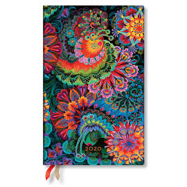 Maxi Paperblanks Olenas Garden 2020 Diary Moonlight Horizontal Week-to-View - 1