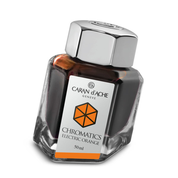 Electric Orange Caran d Ache Bottled Chromatics