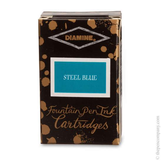 Steel Blue Diamine Fountain Pen Ink Cartridges - 1