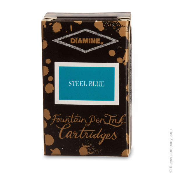 Steel Blue Diamine Fountain Pen Ink Cartridges