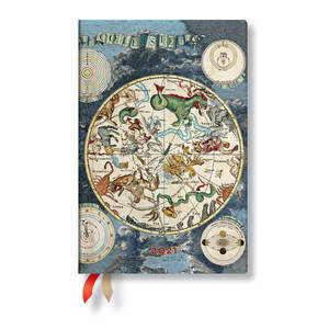 Paperblanks Celestial Planisphere Early Cartography 2021 Diary Mini