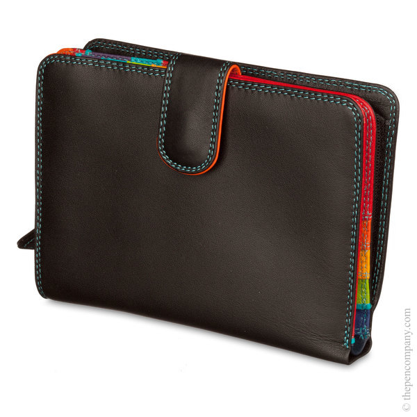 Black Pace Mywalit Large Snap Wallet Purse