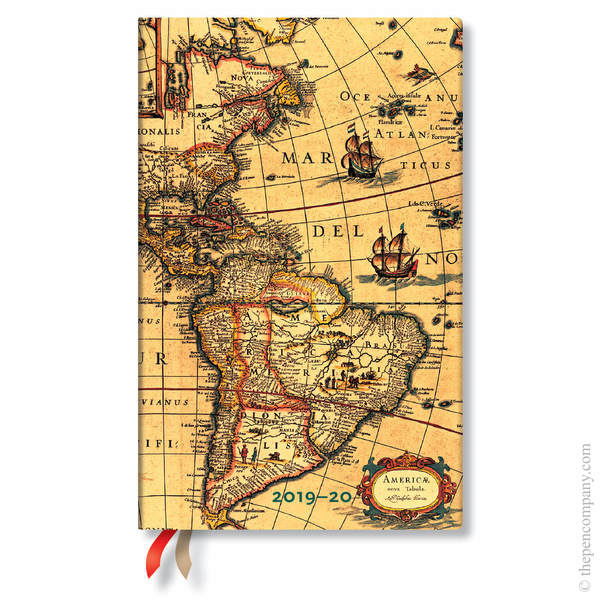 Maxi Paperblanks Early Cartography 2019-2020 18 Month Diary Academic Diary