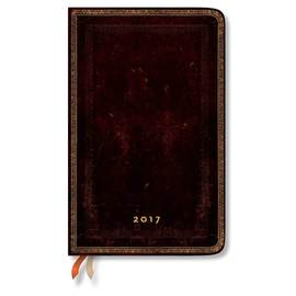 Paperblanks Maxi Week-to-view Black Moroccan Old Leather 2017 Diary - 1