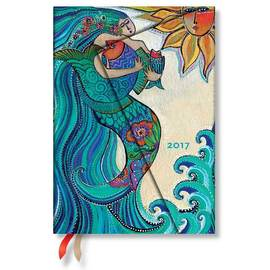 Paperblanks Midi Week-to-view Laurel Burch Ocean Song 2017 Diary - 1
