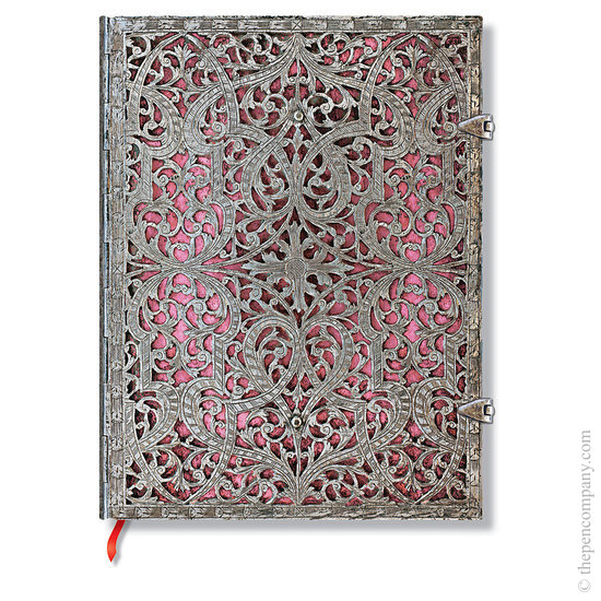 Lined Ultra Paperblanks Blush Pink Silver Filigree Journal - 1