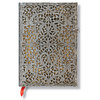 Lined Midi Paperblanks Natural Silver Filigree Journal - 1