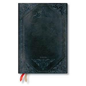 Midi Paperblanks The New Romantics 2020 Diary Midnight Rebel Bold Horizontal Week-to-View - 1