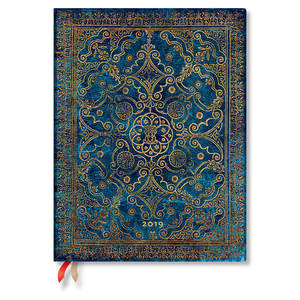 Ultra Paperblanks Equinoxe 2019 Diary Azure Vertical Week-to-View - 1