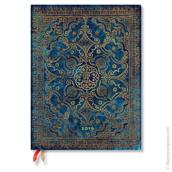 Ultra Paperblanks Equinoxe 2019 Diary Azure Vertical Week-to-View