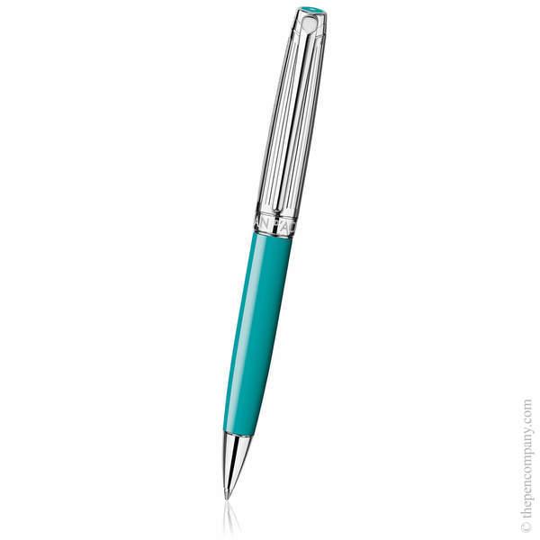 Turquoise Caran d'Ache Léman Bicolour Ballpoint Pen
