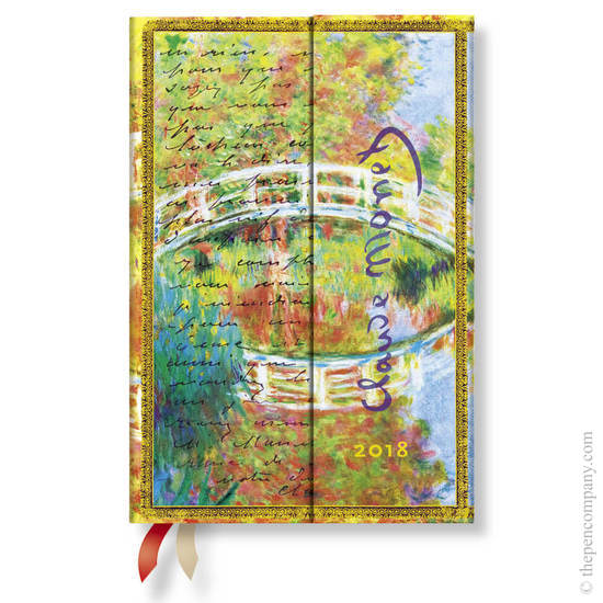 Mini Paperblanks Embellished Manuscripts 2018 Diary Monet (Bridge), Letter to Morisot Horizontal Wee