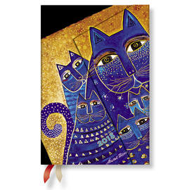 Mini Paperblanks Laurel Burch - Fantastic Felines 2018 Diary Mediterranean Cats Horizontal Week-to-V