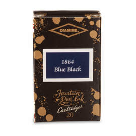 1864 Blue Black Diamine 150th Anniversary Ink Cartridges - 1