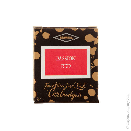 Diamine Passion Red Fountain Pen Cartridges 6 Pack - 1