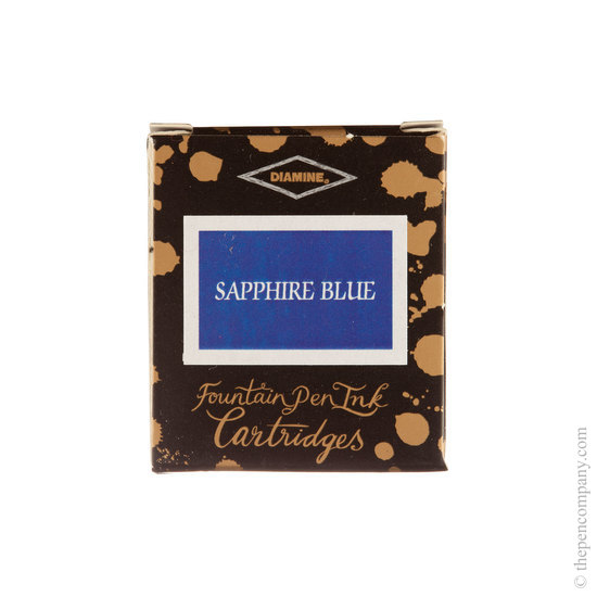 Diamine Sapphire Blue Fountain Pen Cartridges 6 Pack - 1