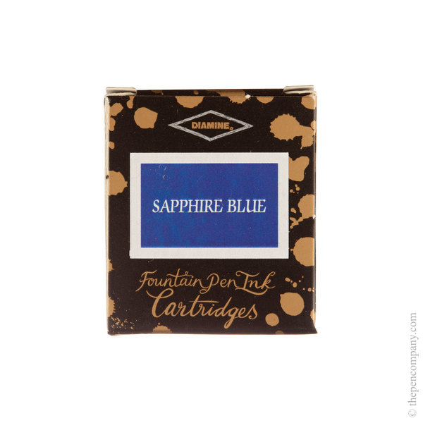 Sapphire Blue Diamine Fountain Pen Ink Cartridges Pack of 6