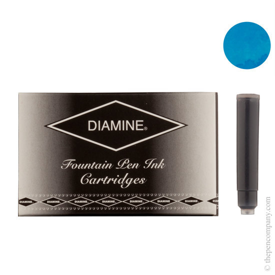 Diamine Turquoise Fountian Pen Cartridges 18 Pack - 1