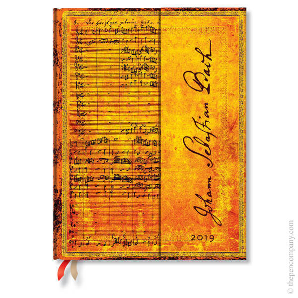 Ultra Paperblanks Embellished Manuscripts 2019 Diary Bach, Cantata Day-to-View