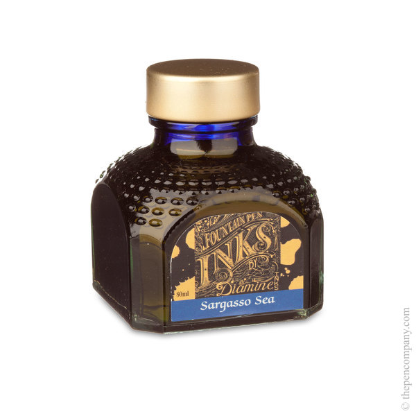 Sargasso Sea Diamine Bottled Fountain Pen Ink 80ml