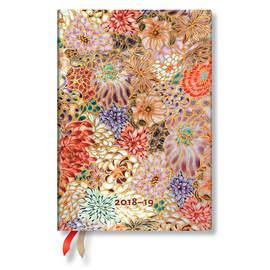 Midi Paperblanks Michiko 2018-2019 18 Month Diary Kikka Horizontal Week-to-View - 1