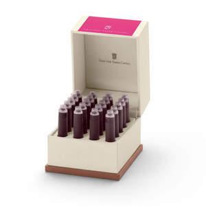 Electric Pink Graf von Faber-Castell 20 Fountain Pen Ink Cartridges - 2
