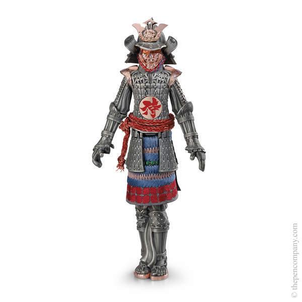Silver Montegrappa Samurai Fountain Pen - Medium