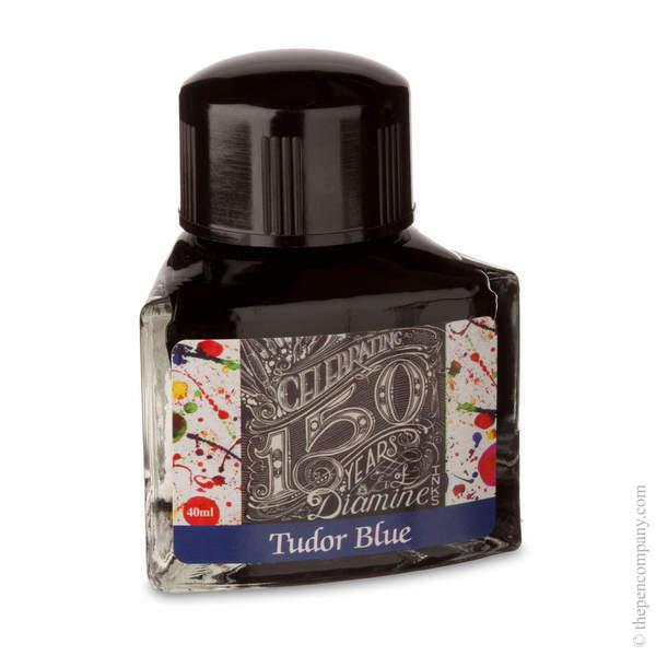 Tudor Blue Diamine Bottled 150th Anniversary Ink