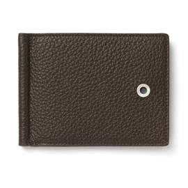 Dark Brown Graf von Faber-Castell Credit Card Holder with Money Clip - 1