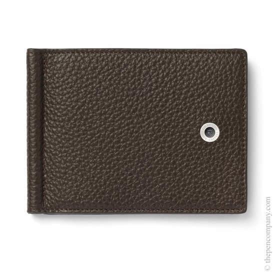 Dark Brown Graf von Faber-Castell Credit Card Holder with Money Clip - 1