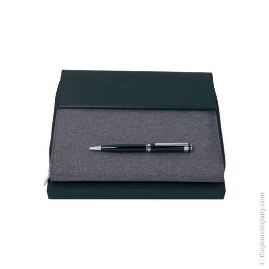 A5 Hugo Boss Caption Ballpoint Pen and Conference Folder Set - 1