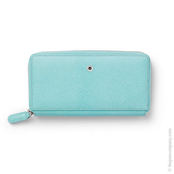 Turquoise Graf von Faber-Castell Epsom Ladies Purse with Zip