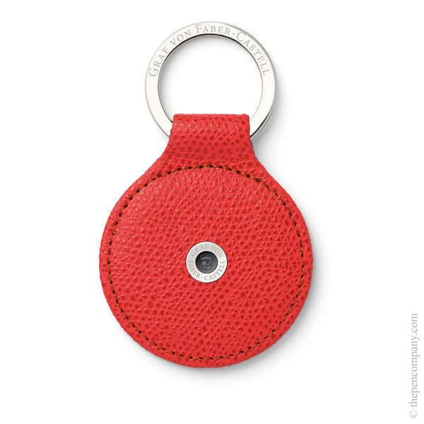 India Red Graf von Faber-Castell Epsom Key Ring Key Ring
