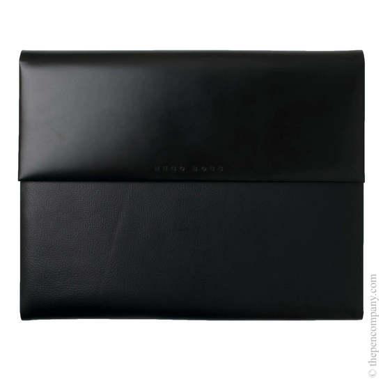 Black A4 Hugo Boss Caption Contrast Conference Folder - 2