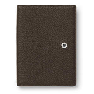 Dark Brown Graf von Faber-Castell Cashmere Leather Passport Holder Cover - 1