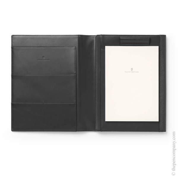 A5 Black Graf von Faber-Castell Epsom Writing Tablet Case