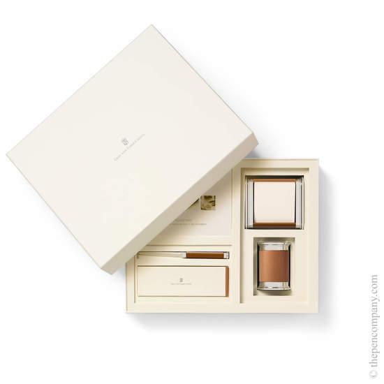Cognac Graf von Faber-Castell Epsom Small Desk Accessories Set - 1