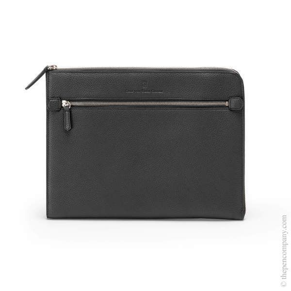 Black Graf von Faber-Castell Cashmere Folio with Zip Folder