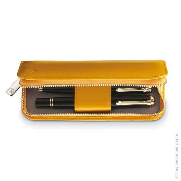 Yellow Pelikan Zip Pen Case