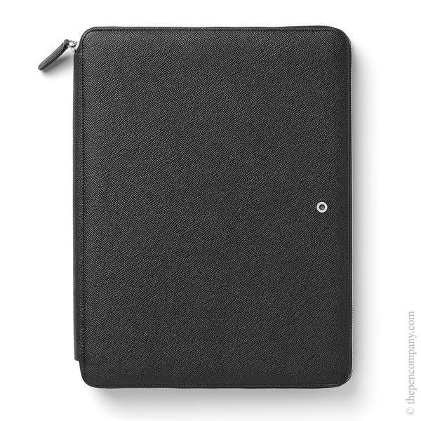 A4 Black Graf von Faber-Castell Epsom Writing Tablet Case Conference Folder