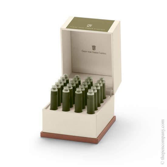 Olive Green Graf von Faber-Castell 20 Fountain Pen Ink Cartridges - 1