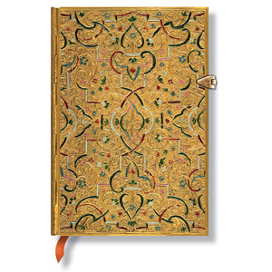 Lined Midi Paperblanks Gold Inlay Journal - 1