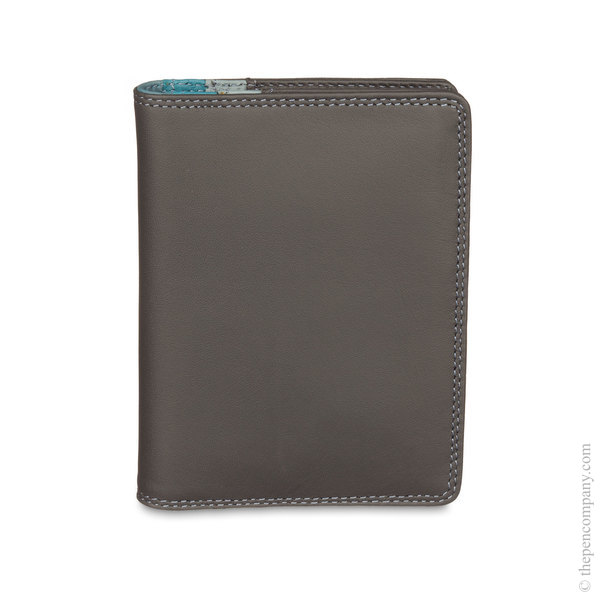 Smokey Grey Mywalit Credit Card Holder with Plastic Insert