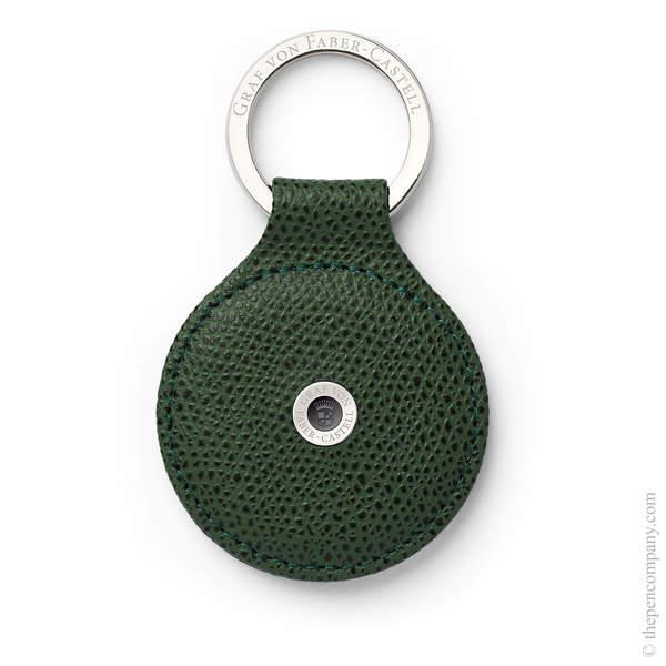 Olive Green Graf von Faber-Castell Epsom Key Ring Key Ring