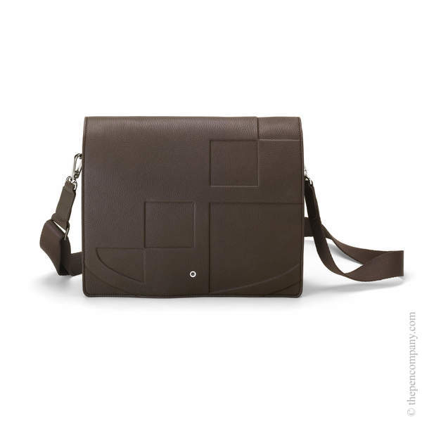 Dark Brown Graf von Faber-Castell Cashmere Messenger Bag Landscape