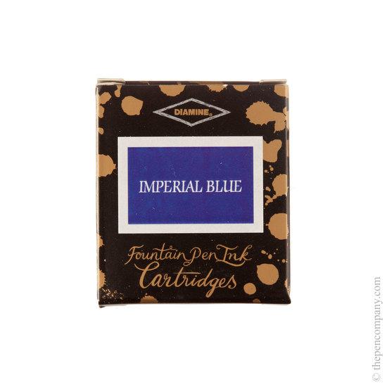 Diamine WES Imperial Blue Fountain Pen Cartridges 6 Pack - 1