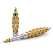 Jack Row Jaali fountain pen Gold with Petrol Blue Diamonds - 2